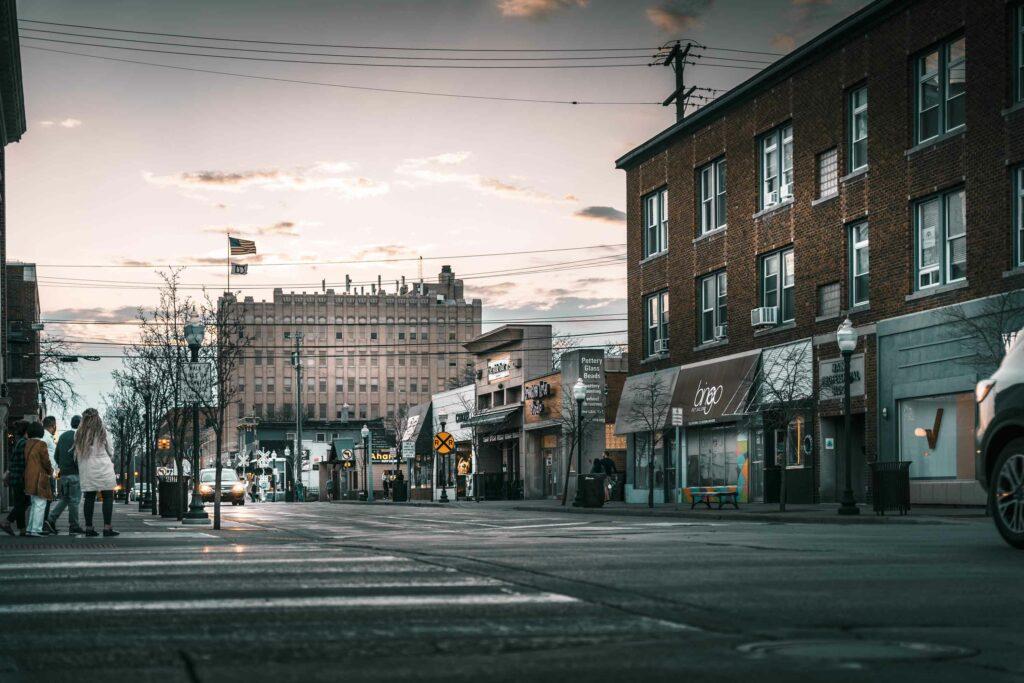 Streets of Royal Oak near The Roy apartmemnts.